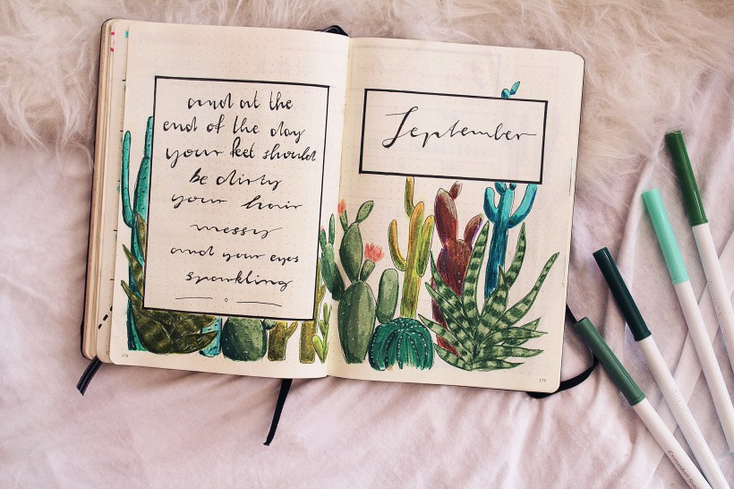 september_bullet_journal_cactus